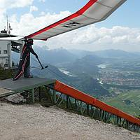 Start Drachenflieger am Tegelberg